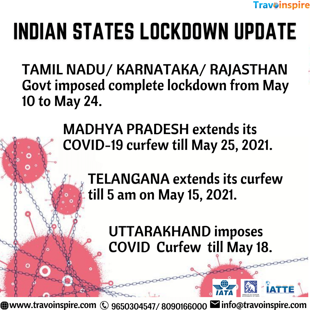 Indian State Lock-down update